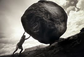 Image result for boulder up a hill